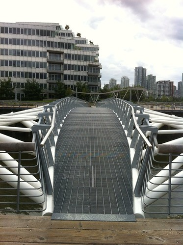 Pedestrian bridge at Vancouver's Olympic Village