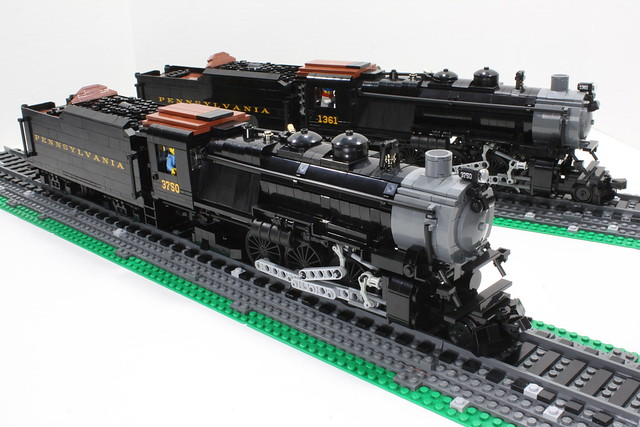 Mocs pennsylvania rr k4s class steam locomotives 3750 for Modele maison lego