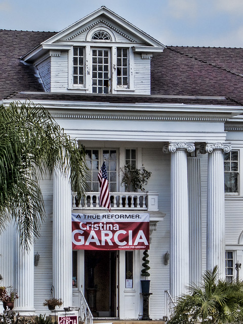 Rives Mansion campaigning for Cristina Garcia