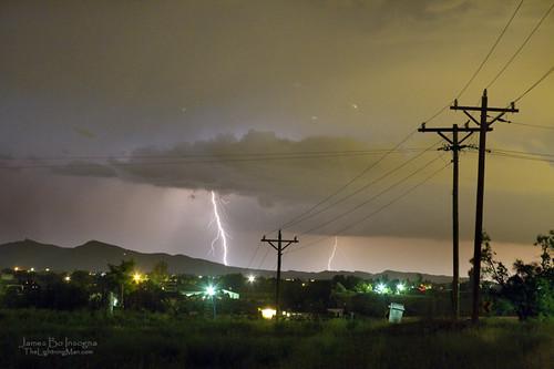 Rural Lightning Striking