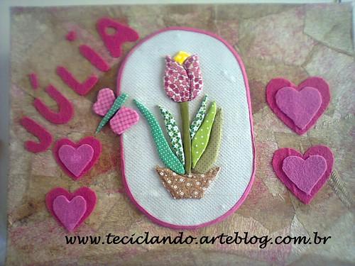 Caixa da Júlia by Teciclando artes em tecidos