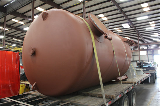 "84"" Water Treatment Vessel Designed for a Refinery in Texas"