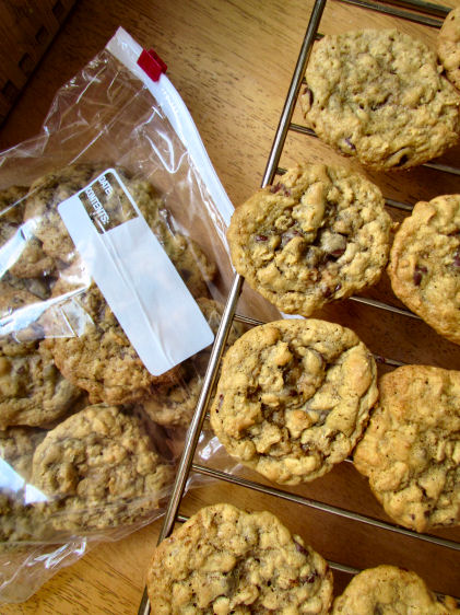 Oatmeal Cookies for Freezer