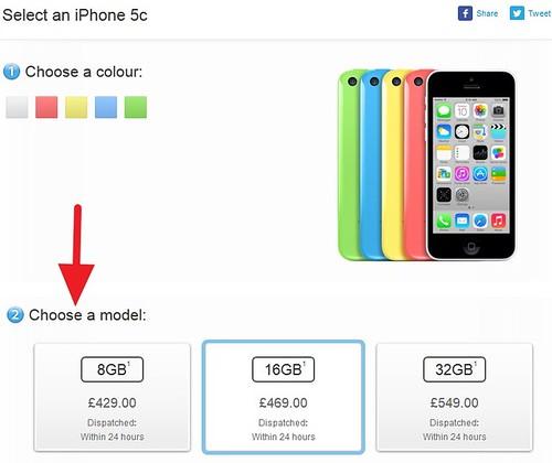 Купить iPhone 5C на 8 ГБ