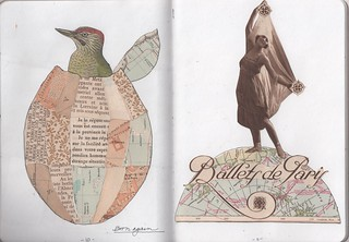 """""Born Again"" & Ballet de Paris Pp. 10 & 11 of Parts of a Whole journal"