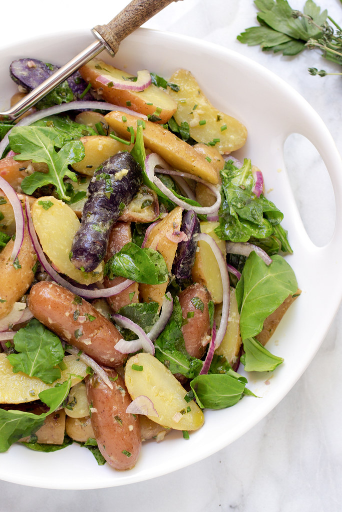 French Potato Salad with Baby Arugula