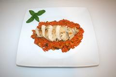 50 - Greek lemon chicken with tomato tomato kritha…