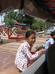 A warm welcome to a floating Muslim Cham weaving village