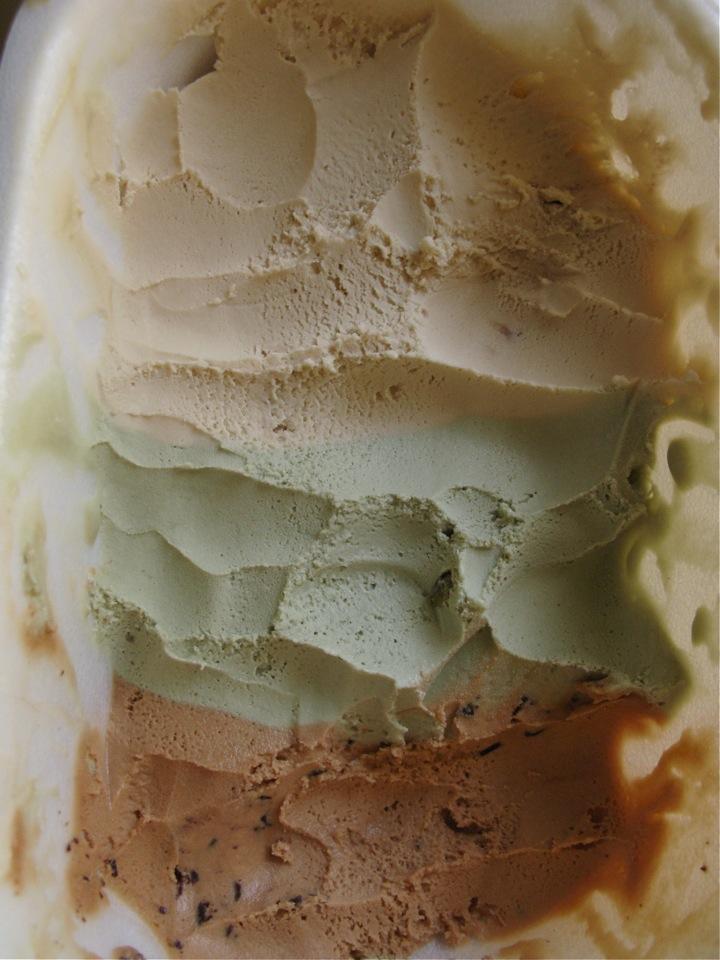 salty taffy pistachio ice cream