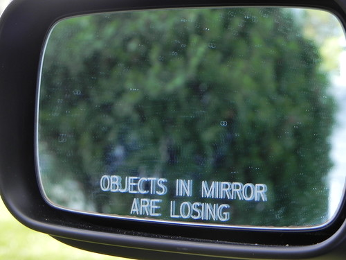 Driver's side rear view mirror