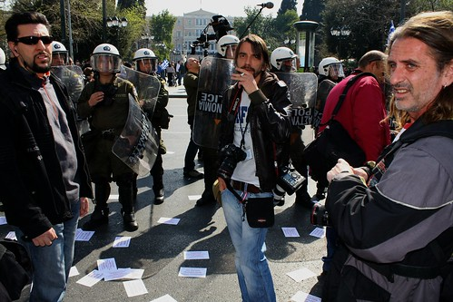 Yet another Greek photojournalist hospitalised by riot police in Athens by Teacher Dude's BBQ