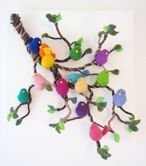 Birds on a Branch - Wool Gathering