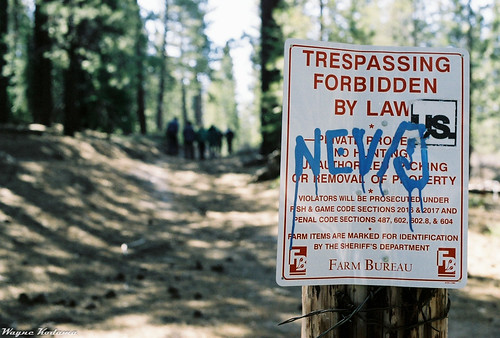 Trespassing Forbidden By Law
