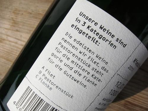 Metzger Wein Klassifikation