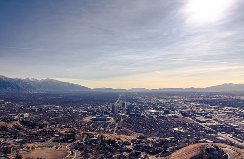 winter sun skyline view saltlakecity slc ensignpeak