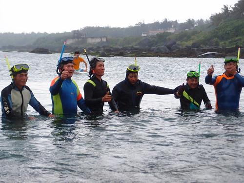 比西里岸在地社區的海星潛水,也響應此次活動,進行淨海。
