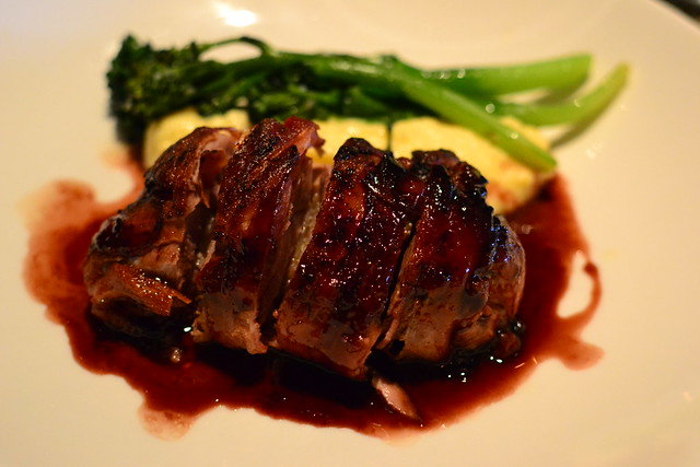Bacon-wrapped Duck Breast