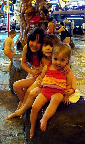 My girls at Great Wolf Lodge