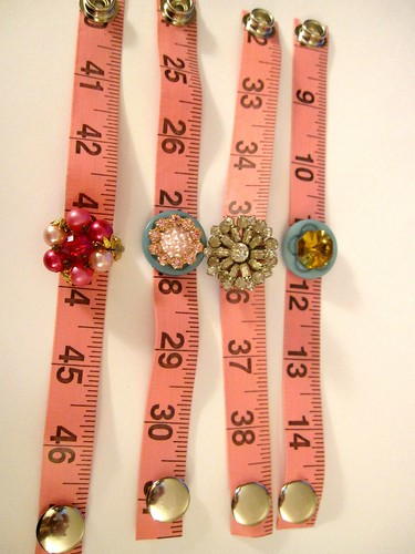 Pink Tape Measure Bracelets! 16