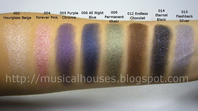 loreal infallible eyeshadow swatches 3