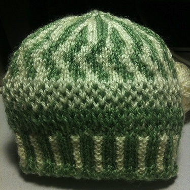 Colour-work preemie hat design