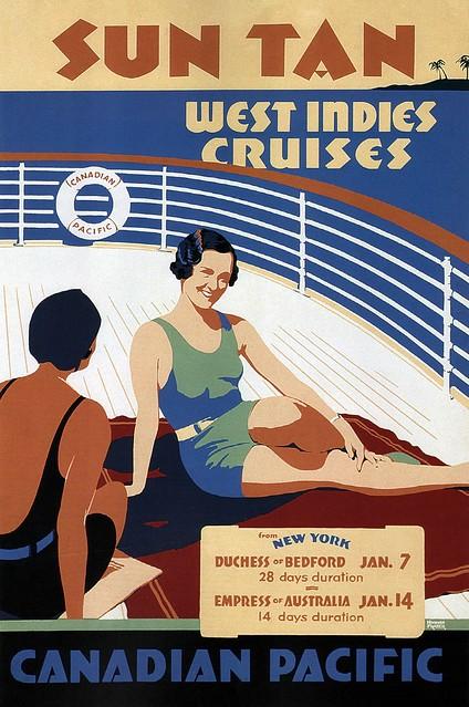Norman Fraser. Sun Tan West Indies Cruises. 1936