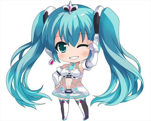 Original design of Nendoroid Racing Miku: 2012 version