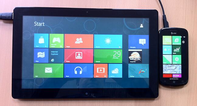 Windows 8 Start Screen Tiles and Windows Phone 7 Start Screen Tiles
