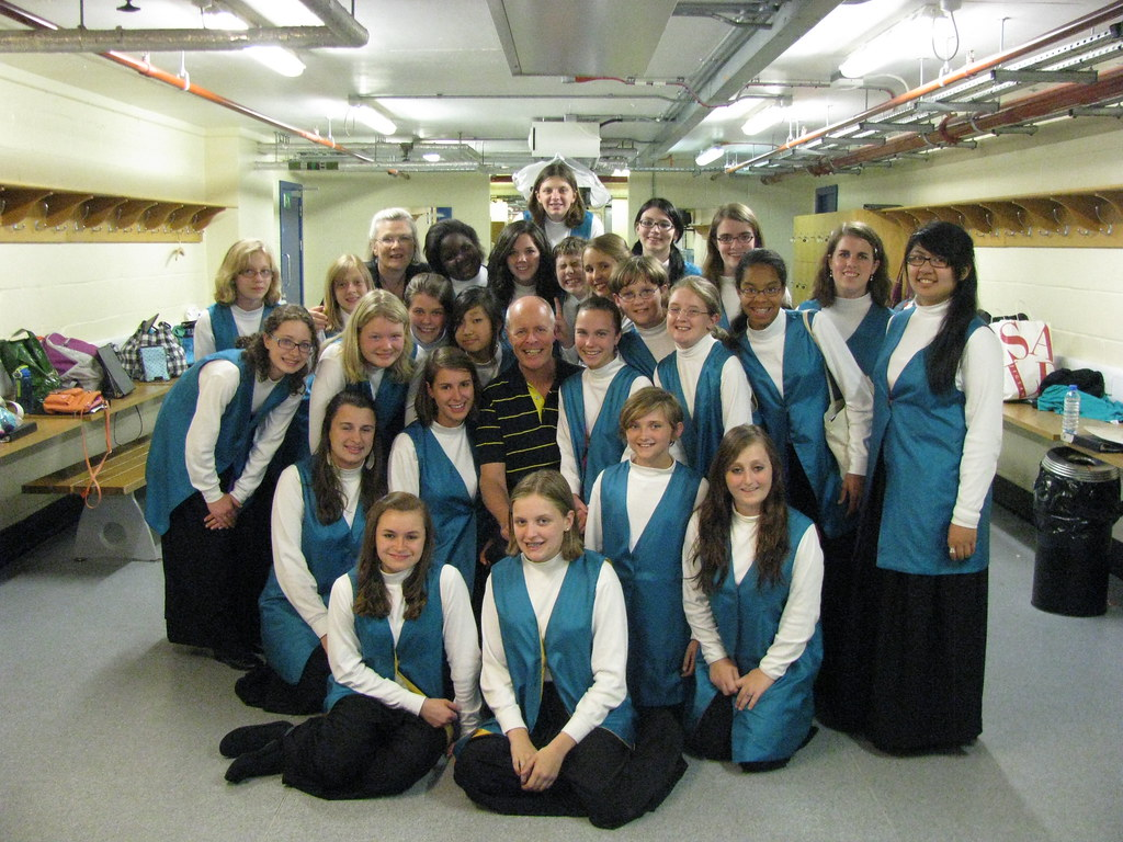 Virginia Children's Chorus with Brian Kay at Royal Albert Hall in London, England