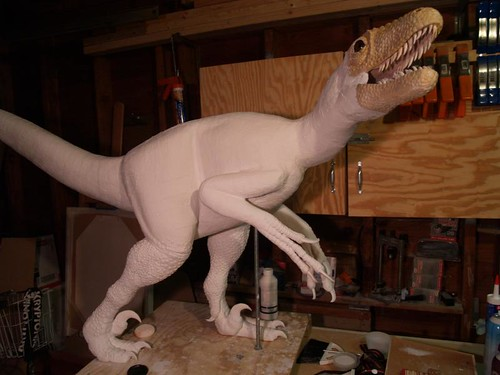 deinonychus scaled, primed and ready for painting and feathering
