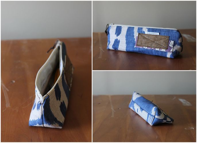 blue artists pouch