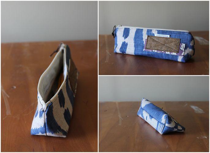 blue artists pouch