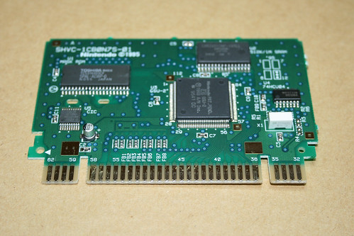 SHVC-1CB0N7S-01 PCB from Doom for the SNES (PAL)