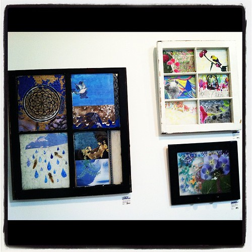 Mixed media pieces by @moniquealexis . Awesomeness - and I own one!