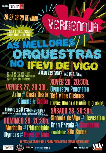 Vigo 2012 - Verbenalia - cartel