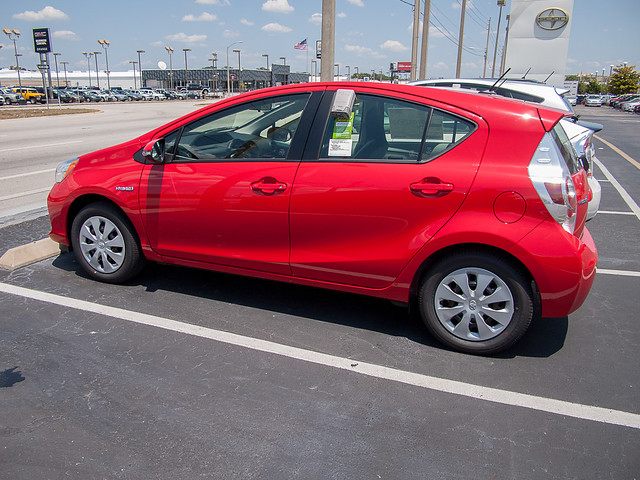 Prius C 2012 Left Rear Quarter View