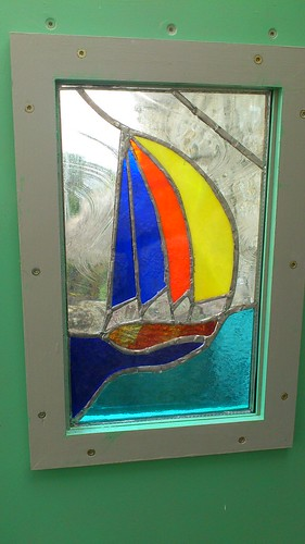 Stained Glass Boat by rowsew