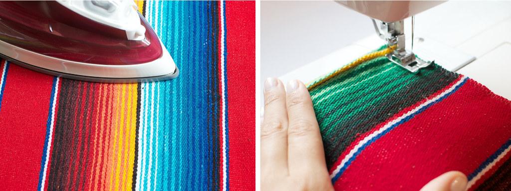 diy mexican rug skirt process3