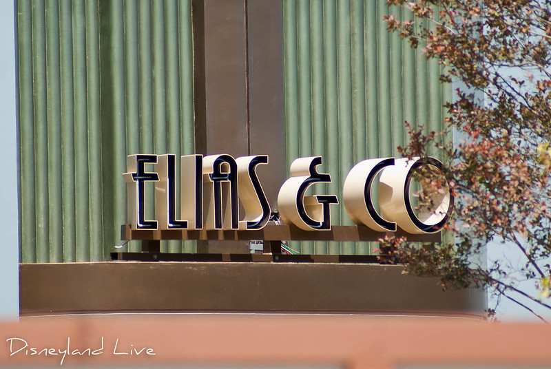 Buena Vista Street Construction - Elias and Company Sign