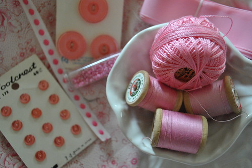 Pink sewing notions