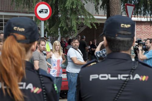 Policias en un desahucio