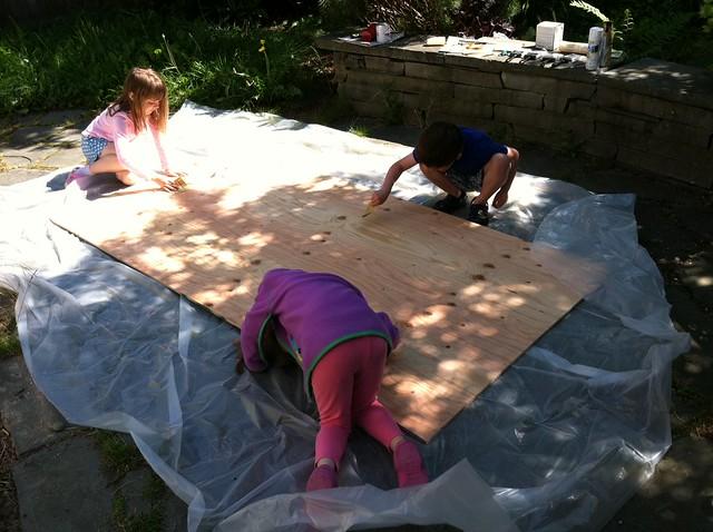 sanding our chalkboard