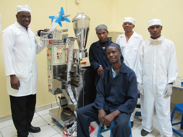 The operational team behind the production of the 4g/200ml ORS sachets