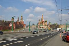La Place rouge depuis le pont Bolshoy Moskvoretsky