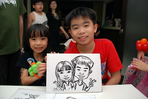 caricature live sketching for a birthday party - 7