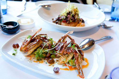 Crisp Softshell Crab & Grilled Calamari