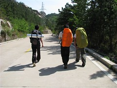 回家路上。在盘山公路上走了2个多小时。