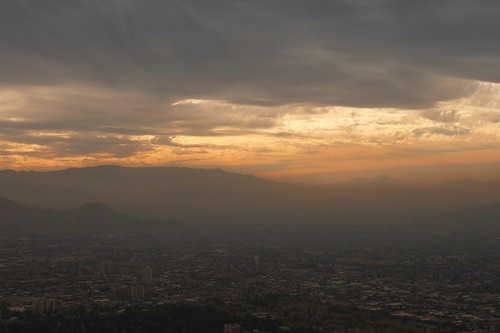 Cerro San Cristobal sunset
