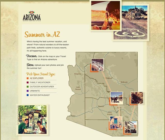 Fotos de la ruta 66 usades a una web de turisme d'Arizona: http://summerinaz.com/az-explorer