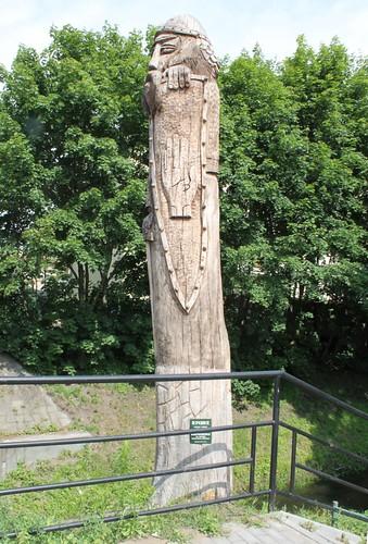Swiątek - Drewniany Rycerz w Brodnicy by xpisto1